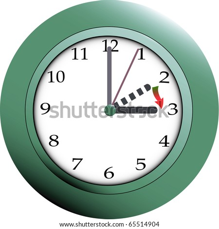 daylight savings time clock image. stock photo : Daylight saving