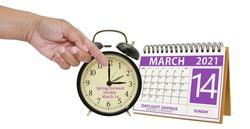 Daylight Savings Time Spring Forward March 2021 Calendar