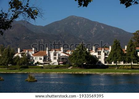 Daytime view of a neighborhood in Rancho Santa Margarita, California, USA. Сток-фото ©