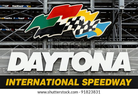 DAYTONA BEACH, FL - DECEMBER 21: An entrance to the Daytona International Speedway in Daytona Beach, Florida on December 21, 2011. The racetrack is home to the annual Daytona 500 NASCAR auto race.