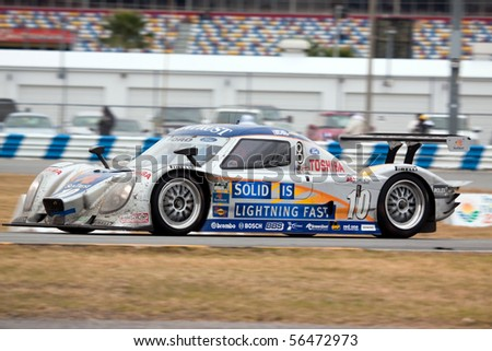 DAYTONA BEACH, FL - JANUARY 31: Suntrust Racing DP Ford in the final hours of the Rolex 24 Hours of Daytona at Daytona International Speedway January 31, 2010 in Daytona Beach, FL.