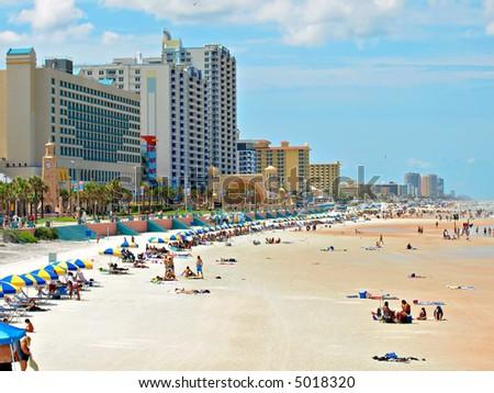 Daytona Beach Florida during a hot summer day