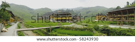 Dazhai landscape with clipping paths