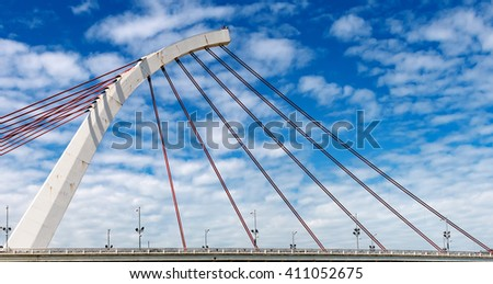 Dazhi Bridge across Keelung River in Taipei #411052675