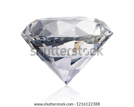 Dazzling diamond on white background #1216122388