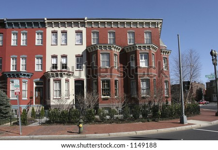 DC rowhouses- straight