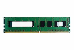 DDR4 dimm sdram memory module isolated on white background