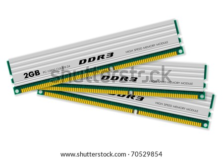DDR3 memory modules - stock photo