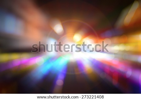De focused Bokeh Abstract Background Radial Motion Blur with flare