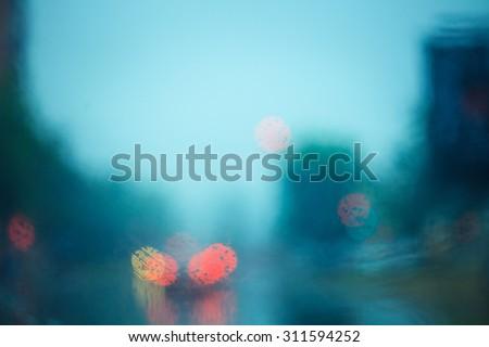 De focused of focus traffic and lights