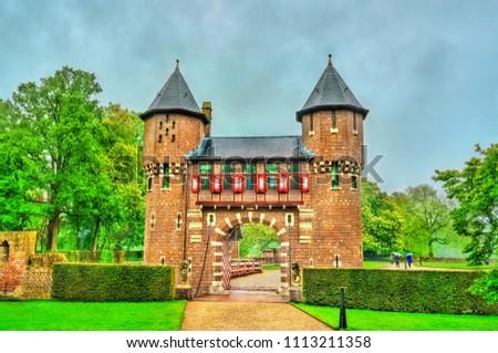 De Haar Castle near Utrecht. A major tourist attraction in the Netherlands #1113211358