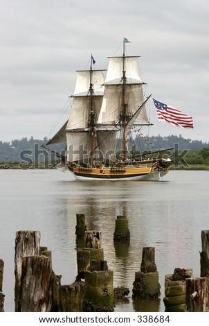 De lange Patriot van het Schip - stock photo