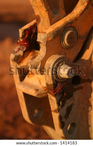 De Verbinding van de tractor - stock photo