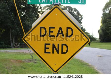 DEAD END SIGN #1152412028