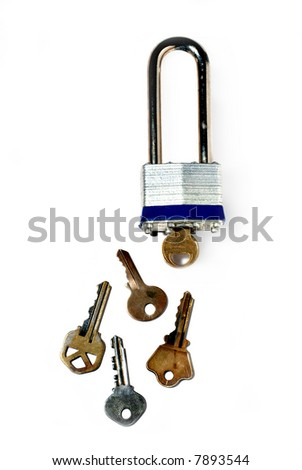 deadbolt and a variety of keys