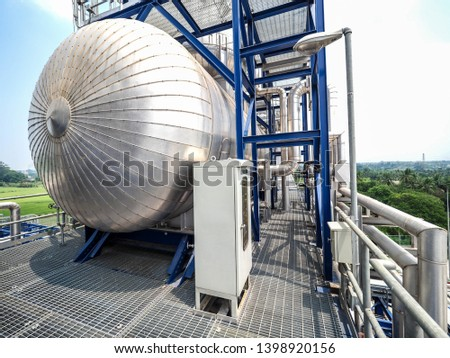 Deaerator systems of boiler systems in Combined-Cycle Co-Generation power plant. #1398920156