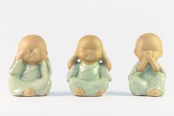 deaf and dumb ceramic blind buddhas
