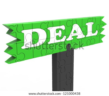 Deal Meaning Bargain Promotion Discount Reduction Or Agreement