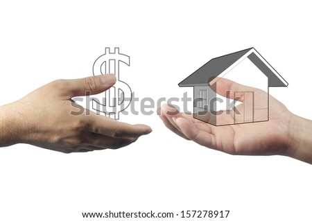 Photo of deal property on hand graphic concept