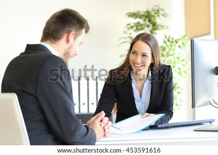 dealer attending to a customer...