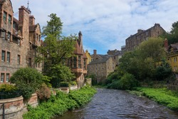 Dean Village and the Water of Leith in Edinburgh