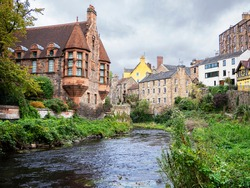 Dean village, Edinburgh, with the river Leith flowing through.
