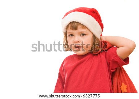 Dear Santa and also I want a doll and .... - stock photo