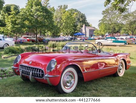 DEARBORN MIUSA JUNE A Chevrolet Corvette Car At - Henry ford car show