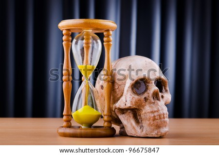 Death and time concept - stock photo