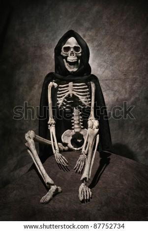 Death skeleton - stock photo