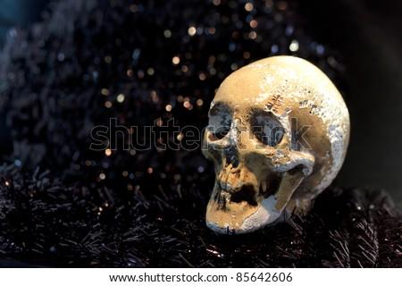 Death skeleton (grim reaper) in the night