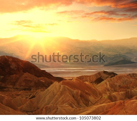 Death valley at sunrise #105073802