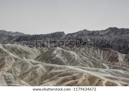 Death Valley Badlands with Interesting Contours and Colors #1179634672