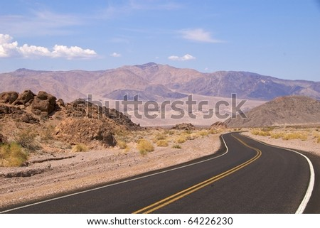 Death Valley road near Badwater Basin