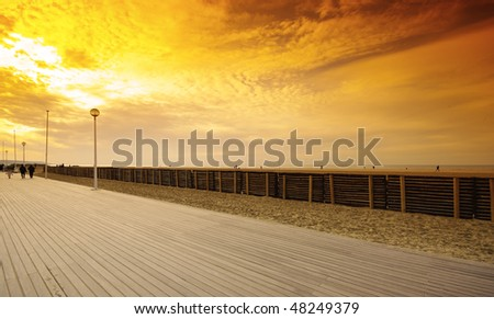 deauville beach in normandy