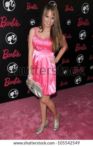 Debby Ryan at Barbie\'s 50th Birthday Party. Barbie\'s Real-Life Malibu Dream House, Malibu, CA. 03-09-09