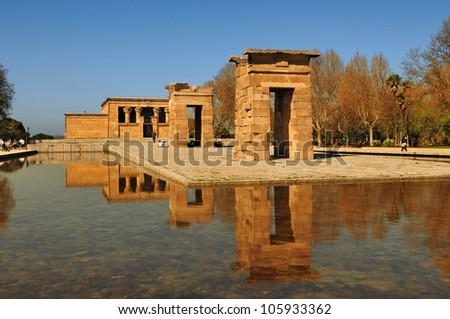Debod - Egyptian temple in Madrid. Spain