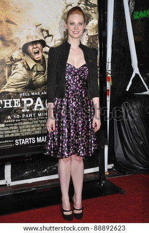 """Deborah Ann Woll at the premiere of HBO miniseries """"The Pacific"""" at Grauman's Chinese Theatre, Hollywood. February 24, 2010  Los Angeles, CA Picture: Paul Smith / Featureflash - stock photo"""