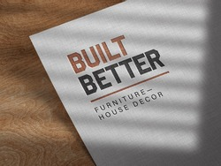 Debossed Logo Mockup on Linen Paper