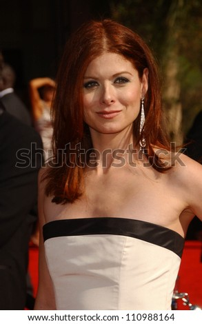 Debra Messing  arriving at the 59th Annual Primetime Emmy Awards. The Shrine Auditorium, Los Angeles, CA. 09-16-07