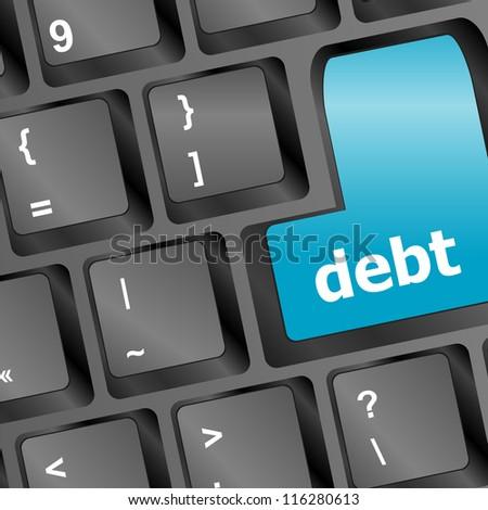 debt key in place of enter key - computer keyboard - raster