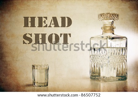 decanter and shot