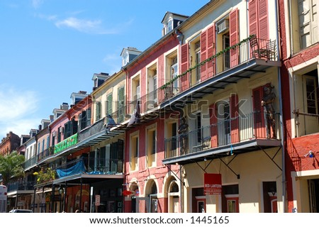Decatur Street, New Orleans - stock photo