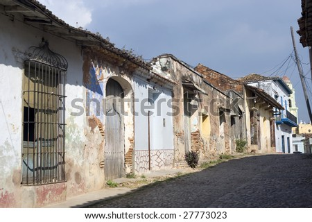 Decaying colonial buildings -  Trinidad, Cuba
