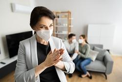 Deceitful Lying Salesman Lying To Family Couple