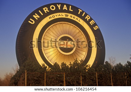 DECEMBER 2004 - Giant Uniroyal Tire in downtown Detroit, MI