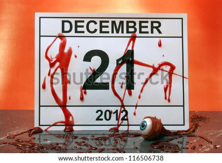 December 21, 2012 marks the end of days from the Mayan Aztec calendar.