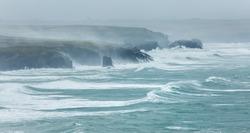 December Storms, Constantine Bay, Cornwall