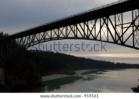Deception Pass bridge in north Washington state