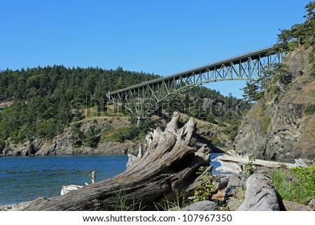 Deception Pass Bridge on Whidbey Island near Seattle, Washington